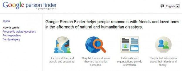 Person Finder: il gigante Google si fa altruista