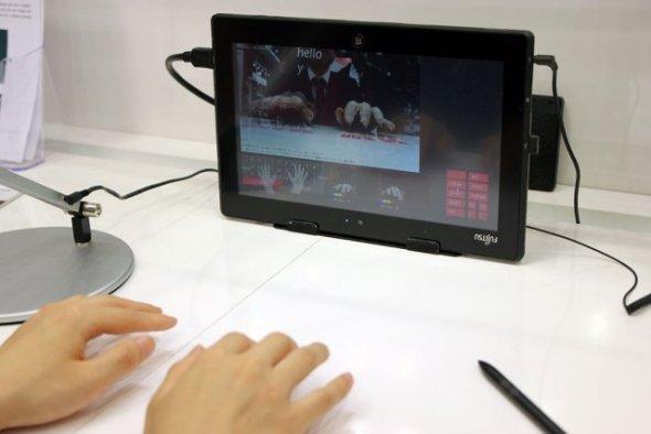 La tastiera che non c'è: Fujitsu e il prototipo invisibile