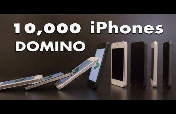 Tutti pazzi per iPhone5? Effetto Domino [VIRAL VIDEO]