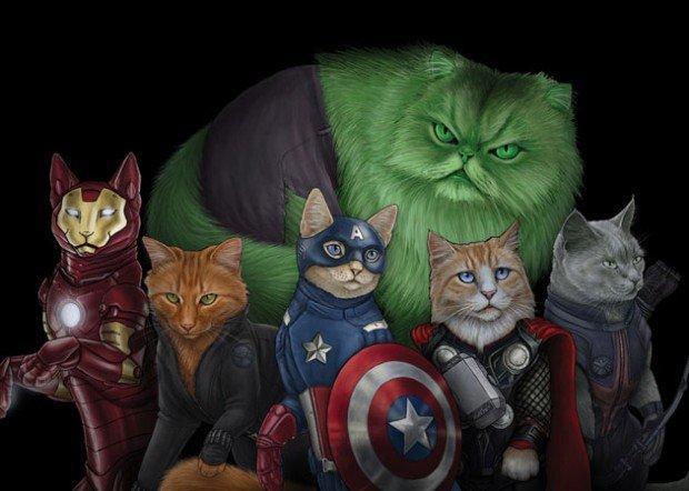 Cat-Avengers uniti: quando il supereroe è un gatto!