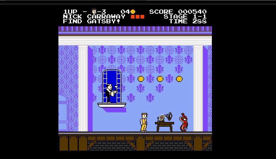Il Grande Gatsby, dal film un gioco stile Nintendo