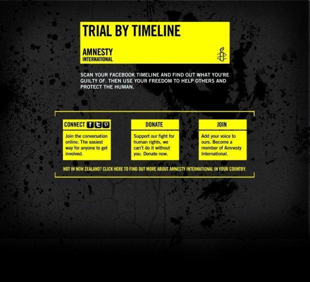 Amnesty International ti mette sotto processo in base al tuo profilo di Facebook