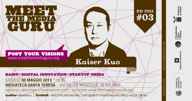 Meet The Media Guru ospita Kaiser Kuo il 30 Maggio