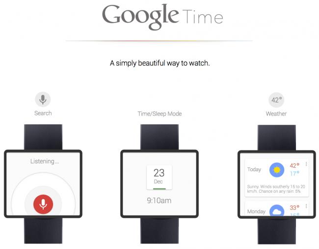 Google Smartwatch: pronti per il lancio dell'orologio firmato Big G?