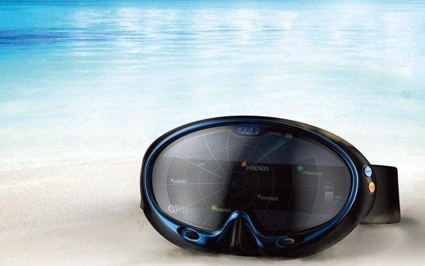 Smart swimming goggles: realtà aumentata in fondo al mar!