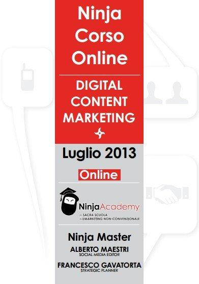Corso online in Digital Content Marketing - Ninja Academy