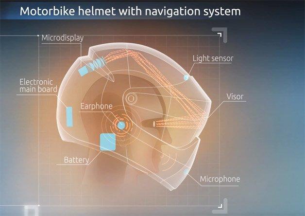 In moto con LiveMap, il casco hi-tech dal navigatore integrato