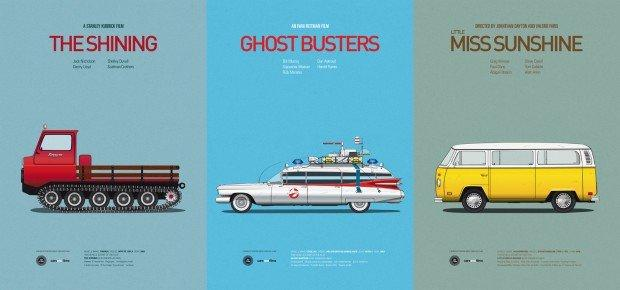 Cars And Films: i motori protagonisti dei film cult in versione minimal