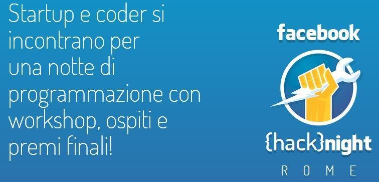 Hack{night}: 5 biglietti gratis per il primo Facebook Hackathon in Italia! [EVENTO]