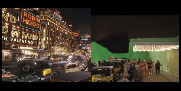 Il Grande Gatsby: le scene originali prima degli effetti speciali [VIDEO]