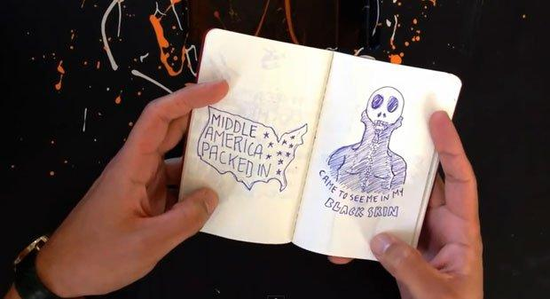 Il video di Kanye West disegnato su una Moleskine [VIDEO]