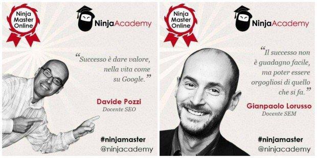 Strategie di SEO & SEM? La parola a Davide Pozzi & Gianpaolo Lorusso, docenti del Ninja Master!
