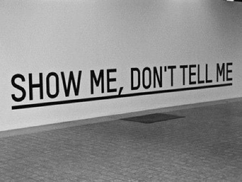 Show, don't tell: 5 consigli sulla comunicazione online