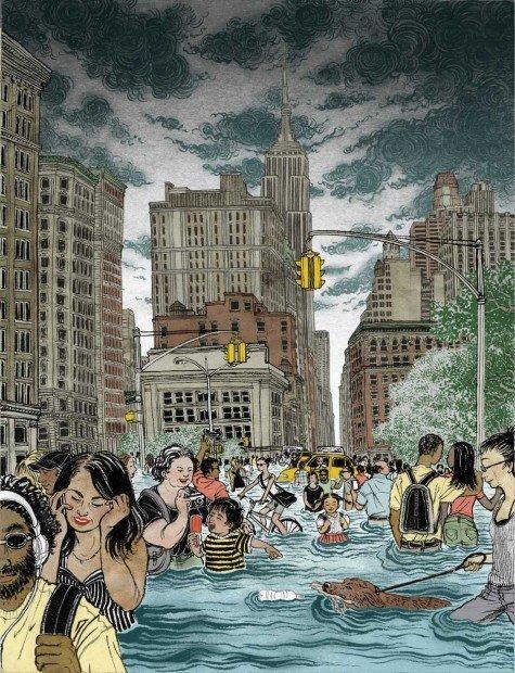 Top 10 fumetti e illustrazioni speciale estate 2013 Yuko Shimizu New York City