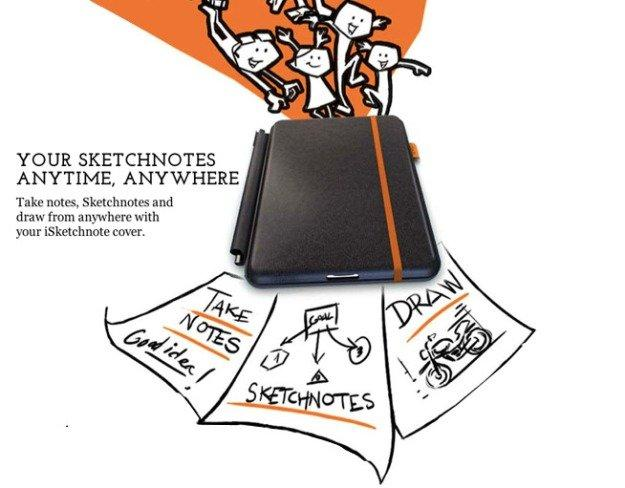 iSketchnote: la cover per iPad che digitalizza i tuoi disegni su carta [GADGET OF THE WEEK]
