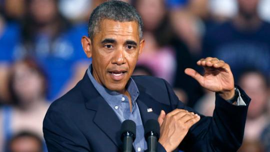 Obama gesture speech
