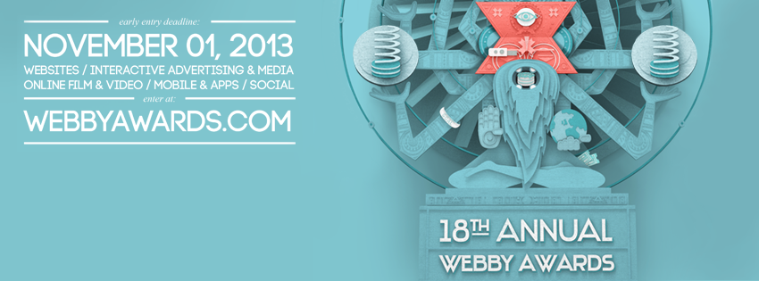 18esimi Webby Awards: iscrizioni aperte in early booking fino al 1 novembre