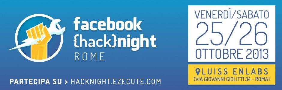 Hack{night}: non perdere il primo Facebook Hackathon in Italia [EVENTO]