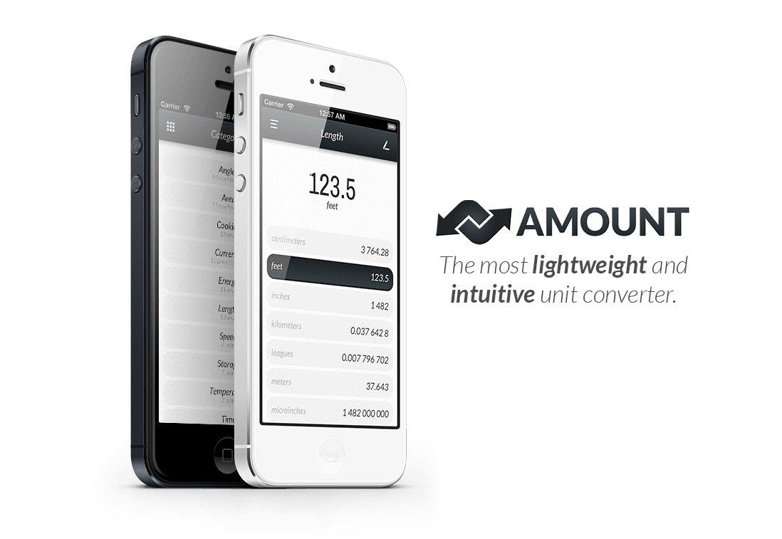 App of the Week: Amount, il convertitore universale dal design minimal!