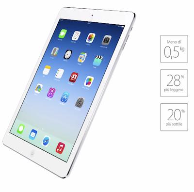 Le misure del nuovo iPad Air