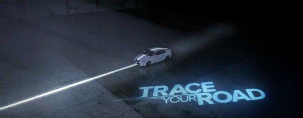 "Lexus ""Trace your Road"", un videogioco a grandezza naturale [VIDEO]"