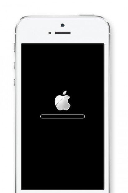 blocco su logo apple