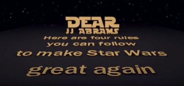 Star Wars di JJ Abrams: i consigli arrivano dai fan [VIDEO]