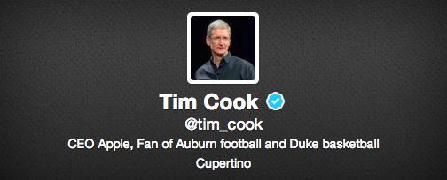 profilo twitter di tim cook
