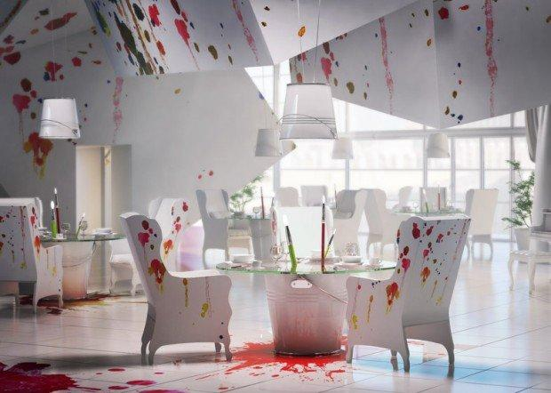Prakownia: il ristorante diventa una gigantesca tela