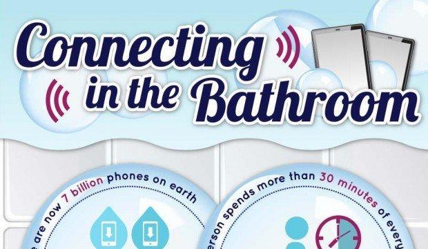 Usare lo smartphone in bagno è ormai una routine