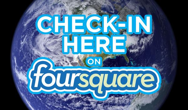 Il giro del mondo con i check-in di Foursquare