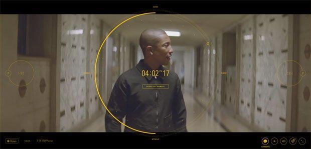 Pharrell crea il primo video musicale interattivo di 24 ore