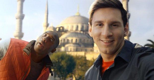 Messi e Bryant: duello all'ultimo autoscatto con Turkish Airlines [VIDEO]