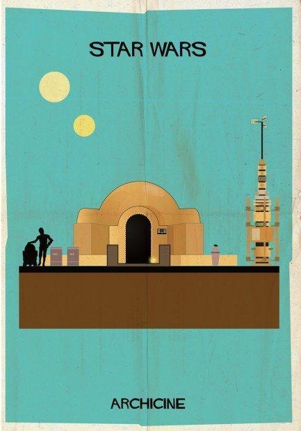 Archicine di Federico Babina: illustrazioni tra cinema e architettura