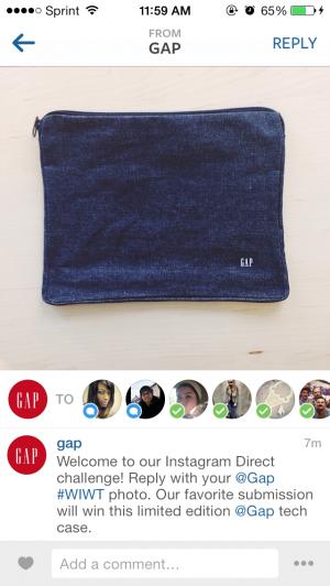 Instagram Direct Gap