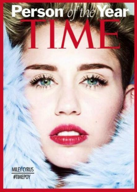 Time e Twitter insieme con l'hashtag Timepoy: Miley Cyrus persona dell'anno?