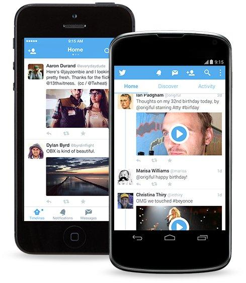 Twitter si aggiorna su dispositivi mobili Android ed Apple [BREAKING NEWS]