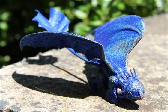 Un cucciolo di drago: il desiderio di una bambina diventato realtà in stampa 3D