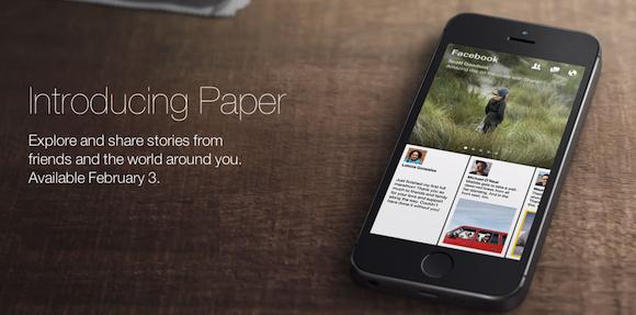Arriva Paper! Facebook mira al mercato delle news via mobile  [BREAKING NEWS]