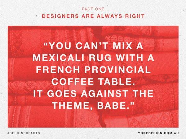 il designer Ha sempre ragione