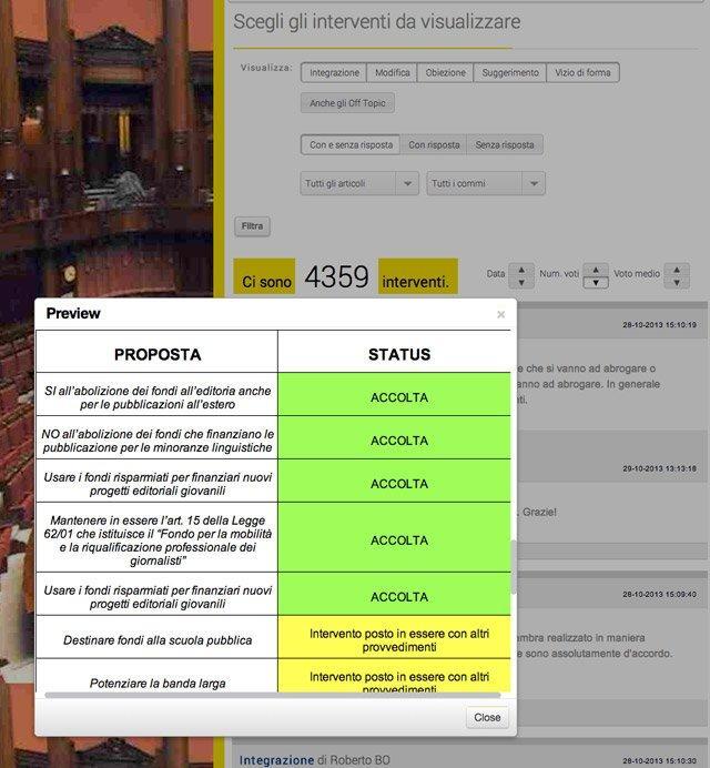 Relazione finale della proposta di legge
