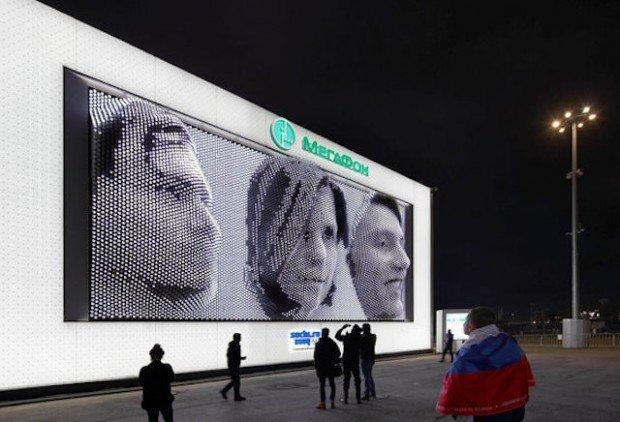 A Sochi i selfies sono in 3D formato gigante
