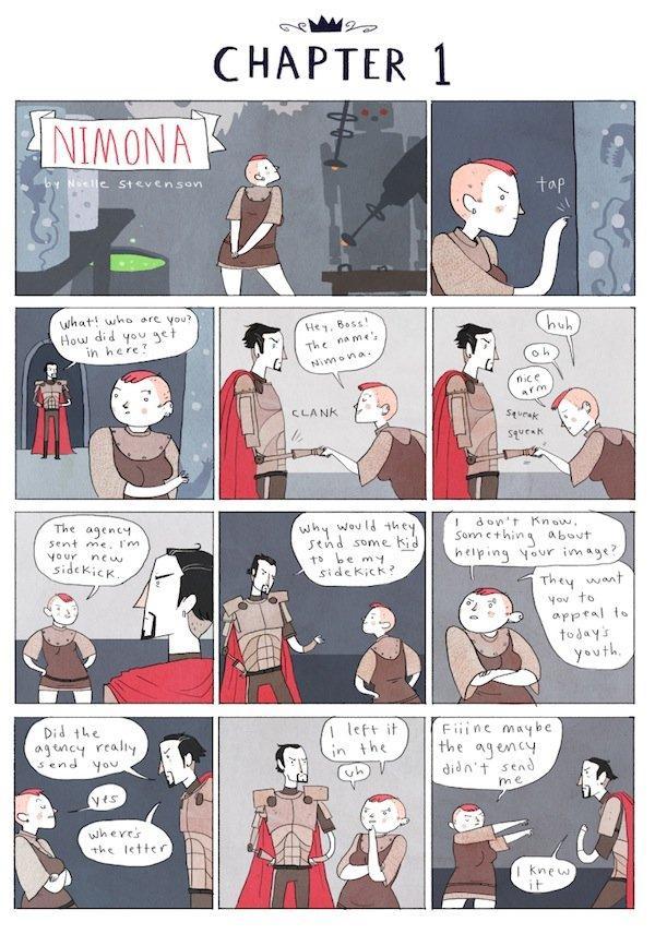 Top10 fumetti e illustrazioni Noelle Stevenson Nimona