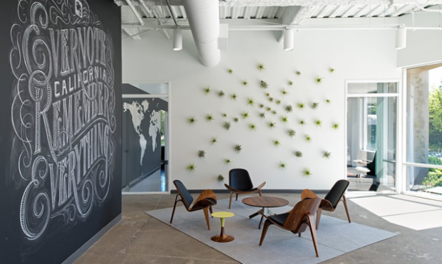 Il design minimal-warm degli headquarters di Evernote