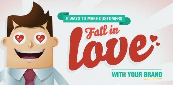Innamorarsi di un brand in 6 semplici mosse [INFOGRAFICA]