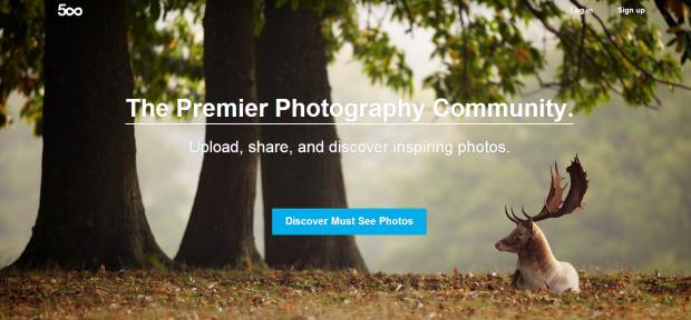 500px, una community per fotografi social