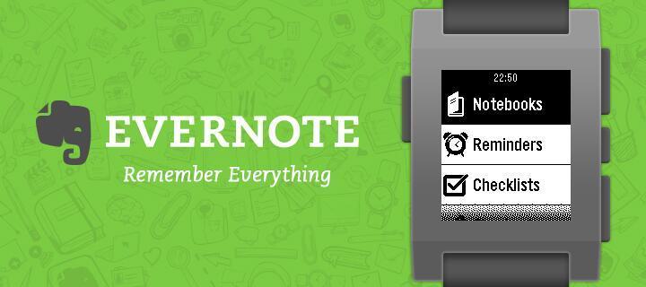 Evernote lancia la sua app ufficiale per Pebble