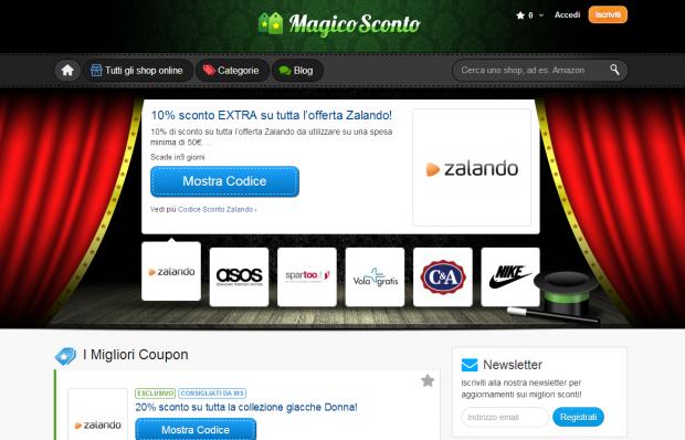 Magico Sconto: il sito con i migliori coupon per gli store online