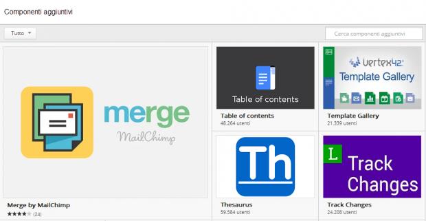 Google lancia uno store con add-ons personalizzati per Docs e Sheets
