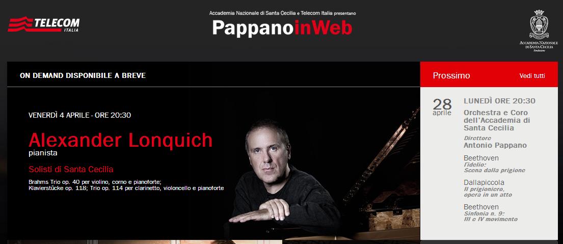 PappanoinWeb: torna l'iniziativa per seguire la grande musica classica in Rete